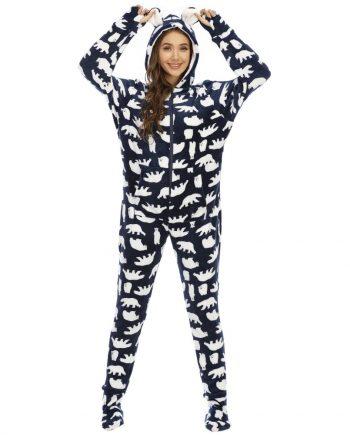 Pyjama Grenouillère avec Pied Femme - Grenouillère Femme - Grenouillère Style